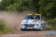 Timo van der Marel - Rebecca Smart - Opel Adam R2 - Autosoft Vechtdal Rally Hardenberg 2014