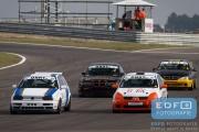 David van Versendaal - VW Golf - Mike Smit - Renault Clio - Toerklasse - Auto's A - DNRT Finale Races - Circuit Park Zandvoort