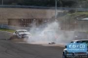 DNRT Endurance Finale Races 2014 op Circuit Park Zandvoort - Crash - Emiel de Bekker en Han Kolenaar - Toyota GT86 Cup