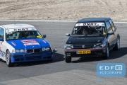 Bogdam Dumitrescu - Peugeot 205 GTi - Hans Hermans - Doude van Troostwijk - BMW 318 Compact - DNRT Toerklasse - DNRT Racing Days 1 2015 - Circuit Park Zandvoort
