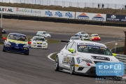 Dennis Houweling - Priscilla Speelman - SEAT Leon Cupracer - Ferry Monster Autosport - Supercar Challenge - Supersportklasse - Paasraces 2015 - Circuit Park Zandvoort