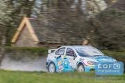 Arjen de Koning - Cindy Verbaeten - Mitsubishi Lancer EVO 10 R4 - Rally van Putten 2015