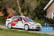 Sander van Hoof - Max Jacobs - Mitsubishi Lancer EVO 4 - Rally van Putten 2015