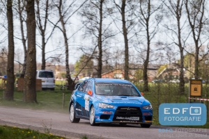 Kevin Kooijman - Hans van Goor - Mitsubishi Lancer EVO 10 R4 - Rally van Putten 2015