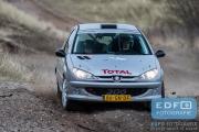 Martijn te Kampe - Lisette Bakker - Peugeot 206 GTi - RallyPro Circuit Short Rally 2015 - Circuit Park Zandvoort
