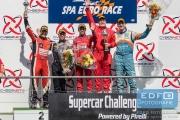 Podium Super GT - Roger Grouwels - Kelvin Snoeks - Jaime Font Casas - Jürgen Smet - Berry van Elk - Supercar Challenge - Spa Euro Race - Circuit Spa-Francorchamps