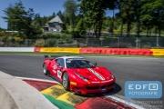 Martin Laning - Martino Rosso Racing - Ferrari 458 GT2 - Supercar Challenge - Spa Euro Race - Circuit Spa-Francorchamps