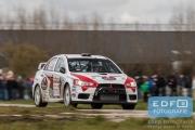 Tim Svanholt - Carina Moller - Mitsubishi Lancer EVO 10 R4 - Tank S Rally 2015