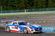 Marko Asmer - Indy Dontje - Lewis Plato - Alexey Vasilyev - Mercedes SLS AMG GT3 - GT Russian Team - Total 24 Hours of Spa