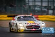 Nico Bastian - Stef Dusseldorp - Daniel Juncadella - Mercedes SLS AMG GT3 - ROWE Racing - Total 24 Hours of Spa