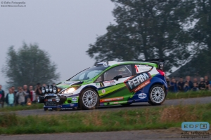 Dennis Kuipers - Robin Buijsmans - Ford Fiesta RS WRC - FERM Power Tools WRT - Unica Schutte ICT Hellendoorn Rally 2014