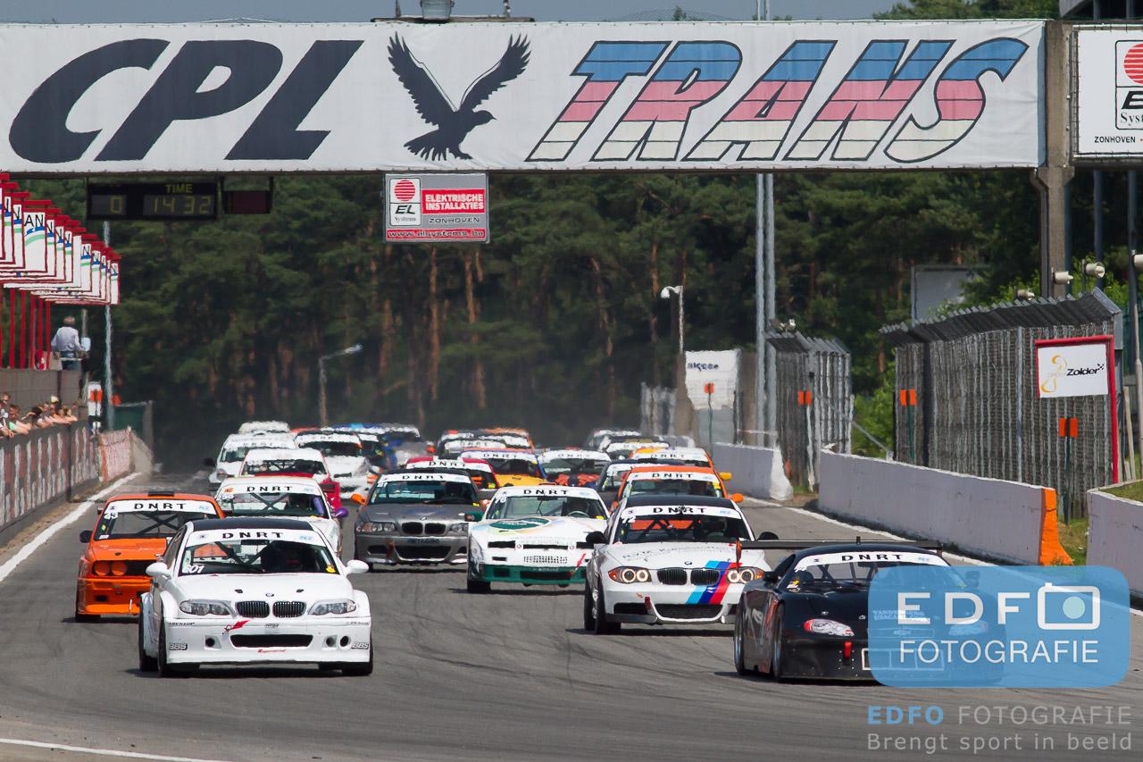 Start van de DNRT Supersportklasse op Circuit Zolder