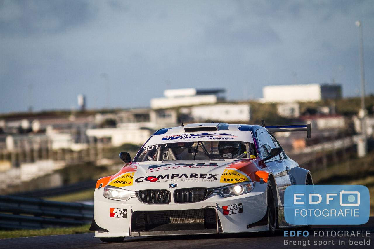 Pieter van Soelen en Koen Bogaerts winnen met de BMW M4 Silhouette van JR Motorsport de Zandvoort 500, de eerste ronde van het Winter Endurance Kampioenschap 2014-2015 op Circuit Park Zandvoort