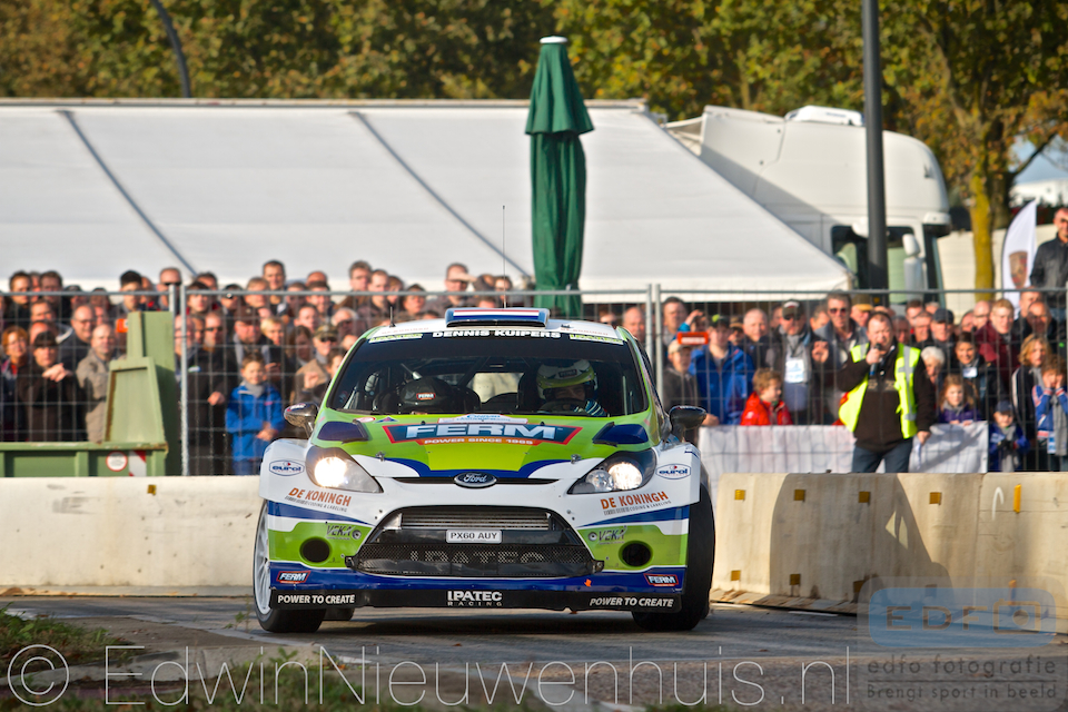 Dennis Kuipers en Robin Buysmans pakken met een Ford Fiesta WRC de zege in de Conrad Euregio Rally 2013