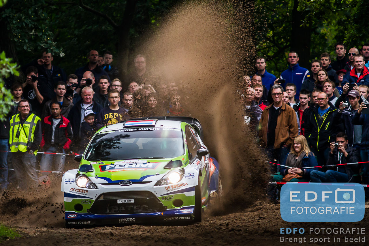 Dennis Kuipers - Robin Buysmans - Ford Fiesta RS WRC - Unica Schutte ICT Hellendoorn Rally 2013