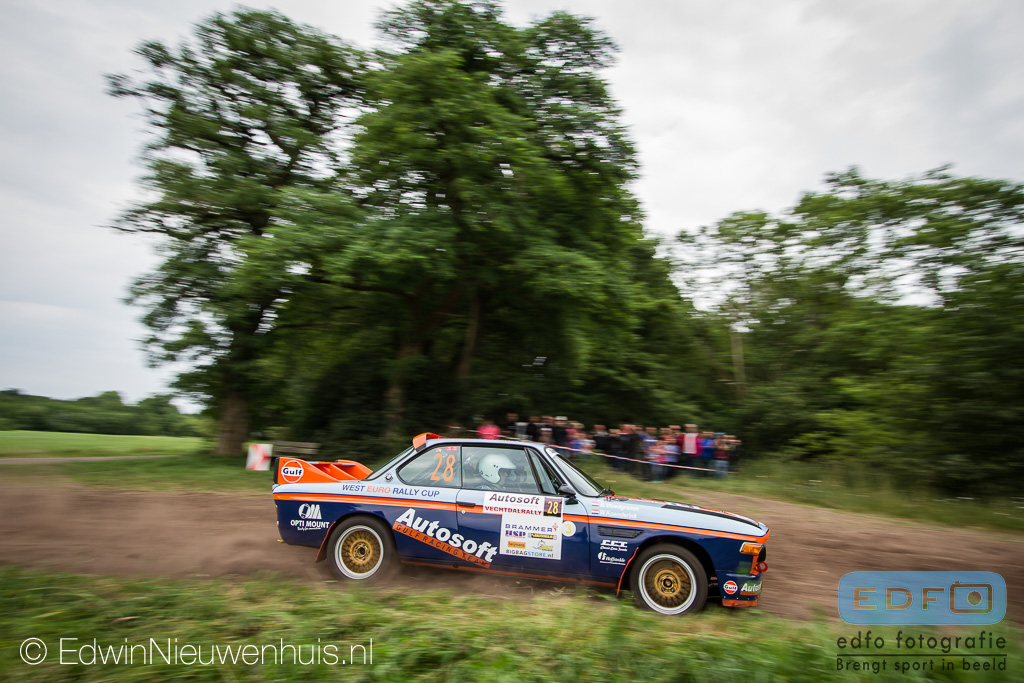 Wouter Koenderink - Bert Vloedgraven - BMW 3.0 CSL - Autosoft Vechtdal Rally 2014
