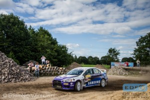 Piet van Hoof - Max Jacobs - Mitsubishi Lancer EVO 10 - ELE Rally 2014