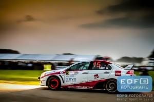 Foto van de dag - Erik Moree en Pascal Meijs in een Mitsubishi Lancer EVO 10 tijdens de Hellendoorn Rally 2014