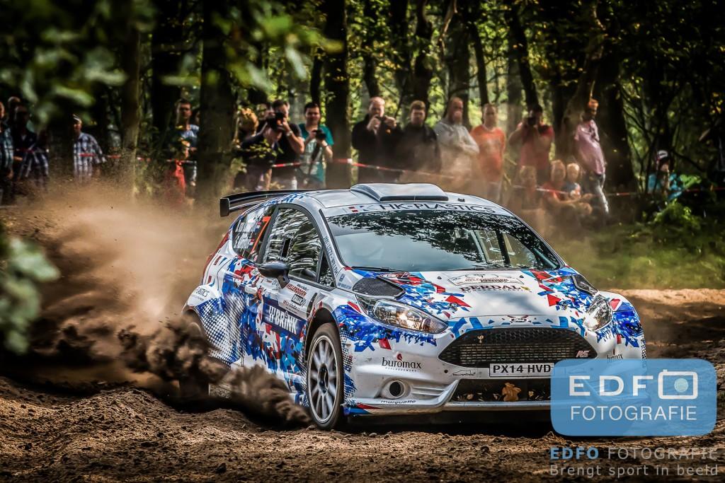 Bas van Kamperdijk - Gert Kamphuis - Ford Fiesta R5 - Unica Schutte ICT Hellendoorn Rally 2014 - Edfo Fotografie