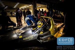 Joey van Splunteren in de Bas Koeten Racing Wolf GB08 in de pits tijdens de Autosportinfo.com Nieuwjaarsrace