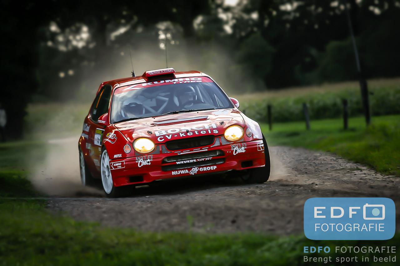 Edfo foto van de dag - Erik Wevers en Filip Godde - Toyota Corolla WRC - Golden Tulip Rally 2005