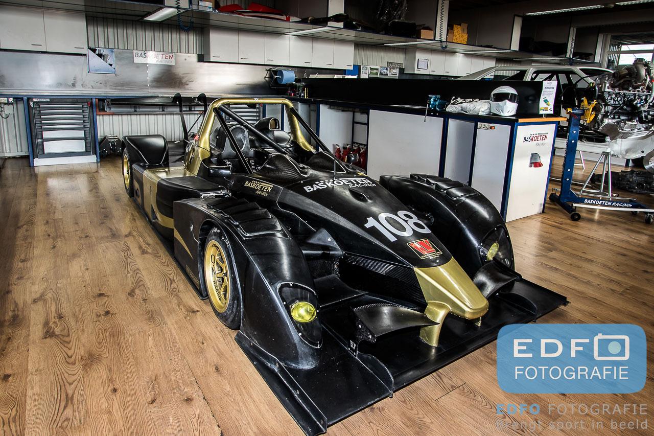 Wolf GB08 in de werkplaats bij Bas Koeten Racing in Westwoud