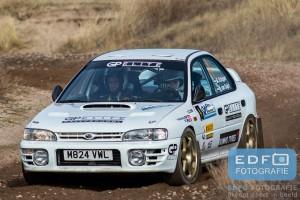 P2 voor Marc Schipper en Niels van Duijn in de Subaru Impreza 555