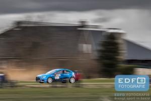 Kevin Kooijman en Hans van Goor hopen het hele Rallyclinic Nederlands Kampioenschap te kunnen rijden in de Mitsubishi Lancer