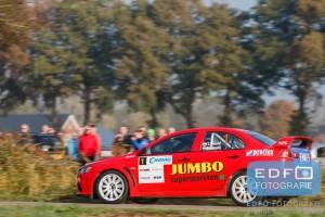 Jasper van den Heuvel - Martine van den Heuvel - Mitsubishi Lancer EVO 10 - Conrad Twente Rally 2015