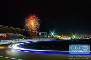 Vuurwerk bij de finish van de Nieuwjaarsrace 2016