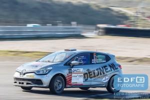 Kevin van Deijne - Hein Verschuuren - Renault Clio R3 - Circuit Short Rally - Circuit Park Zandvoort