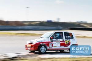 Rick Arendsen - Tamara van Goor - Fiat Cinquecento - Circuit Short Rally - Circuit Park Zandvoort