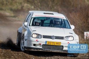 Hans Weijs - Jamilla van Altena - Volkswagen Golf F2 Kitcar - Circuit Short Rally - Circuit Park Zandvoort
