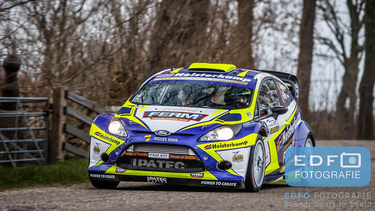 Dennis Kuipers en Michiel Poel winnen de Zuiderzeerally 2016 in een Ford Fiesta RS WRC