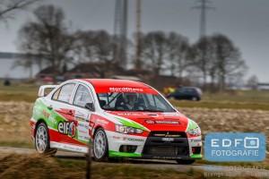 Steen Andersen - Iben Louring - Mitsubishi EVO 10 R4 - Zuiderzeerally 2016