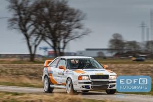 Gerben Brouwer - Niels Kroeze - Audi Coupe S2 - Zuiderzeerally 2016