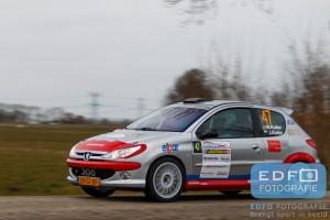 Wolbertie Ruiter - Joyce Ruiter - Peugeot 206 RC - Zuiderzeerally 2016