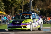 Michel Kolen - Sascha van Veen - Mitsubishi Lancer EVO 7 - Autosoft Twente Short Rally 2014