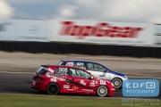 DNRT Endurance Finale Races 2014 op Circuit Park Zandvoort - Jan Evers en Henny van Doorn - VW Golf TDi