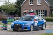 Kevin Kooijman - Hans van Goor - Mitsubishi Lancer EVO 10 R4 - GTC Rally 2014 - Etten-Leur