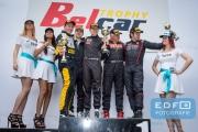 Podium - Joey van Splunteren - Yorck Schumacher - Sam de Jonghe - Luc de Cock - Donald Molenaar - Supercar Challenge Superlights - New Race Festival - Circuit Zolder