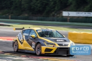 Dennis Houweling (NL) - Aart-Jan Ringelberg (NL) - Seat Sport Leon Cup Racer - Ferry Monster Autosport - 10 June 2016- Spa Euro Races 2016 - 3rd round of the Supercar Challenge powered by Pirelli 2016