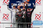 Podium Milan Dontje (NL) - Frits van Eerd (NL) - Jurgen Smet (SP) - Jose Manuel Perez Aicart (SP) - Henk Thuis (NL) - 11 June 2016- Spa Euro Races 2016 - 3rd round of the Supercar Challenge powered by Pirelli 2016