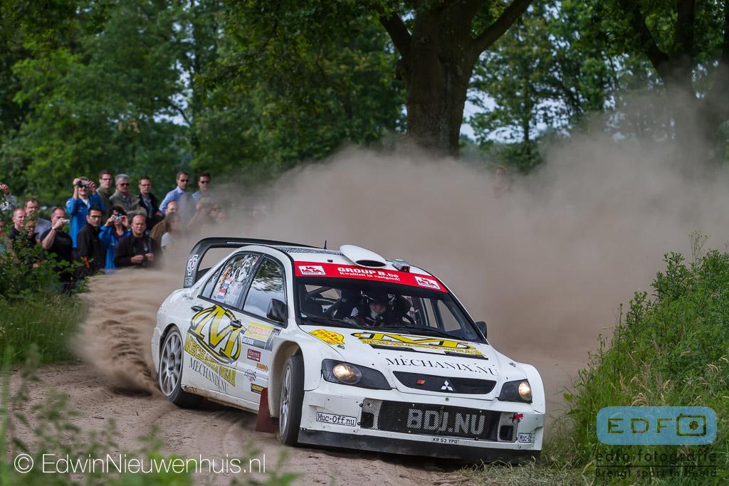 Bob de Jong - Kees Hagman - Mitsubishi Lancer WRC 05 - 50e ELE Rally 2014
