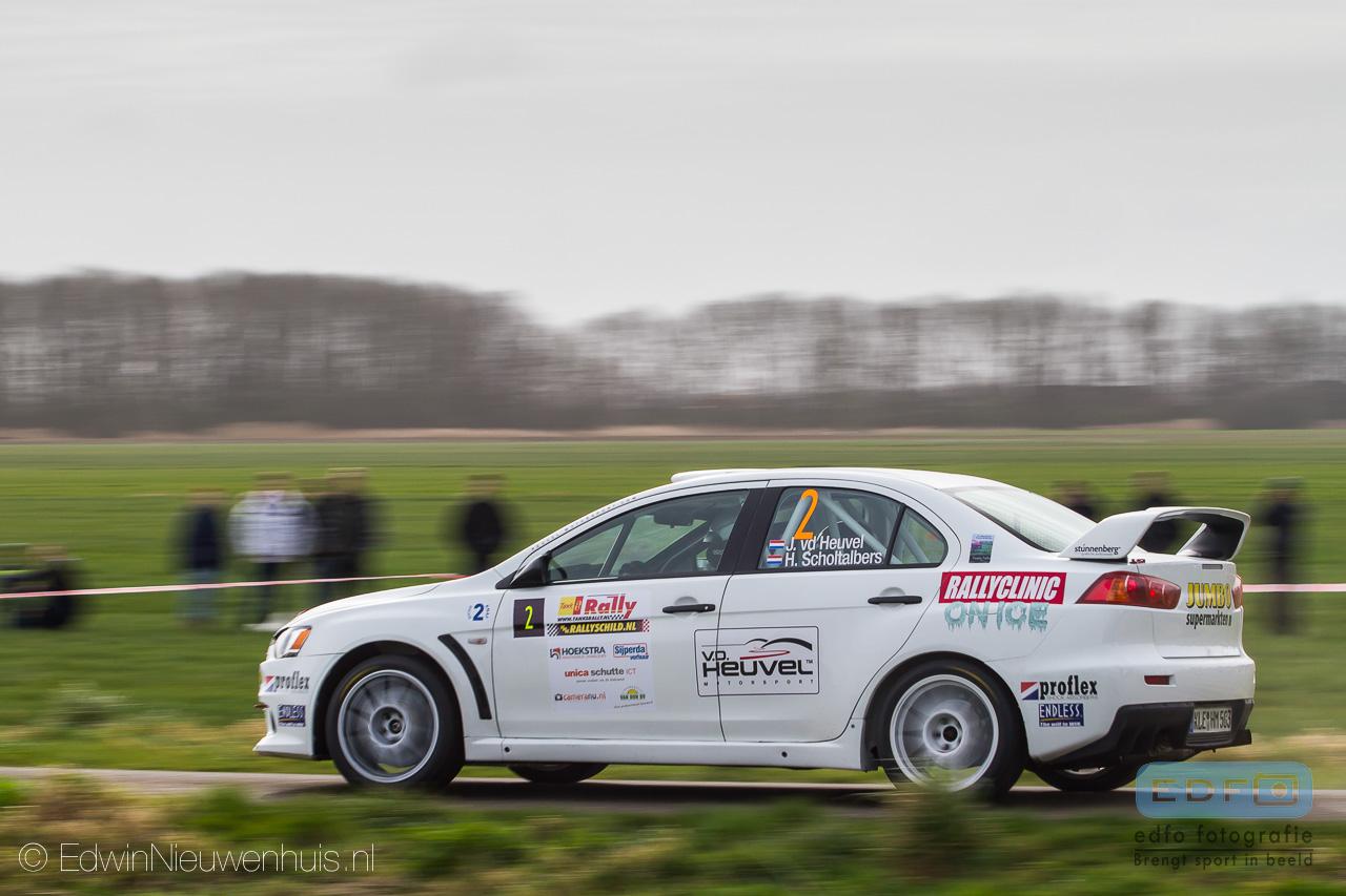 Jasper van den Heuvel - Harmen Scholtalbers - Mitsubishi Lancer EVO 10 - Tank S Rally