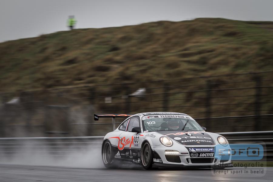 Jeroen Bleekemolen Sebastiaan Bleekemolen Michael Bleekemolen Kees Bouhuys in Sotrax Albert Porsche 997 GT3 tijdens 4 uur van Zandvoort 2013