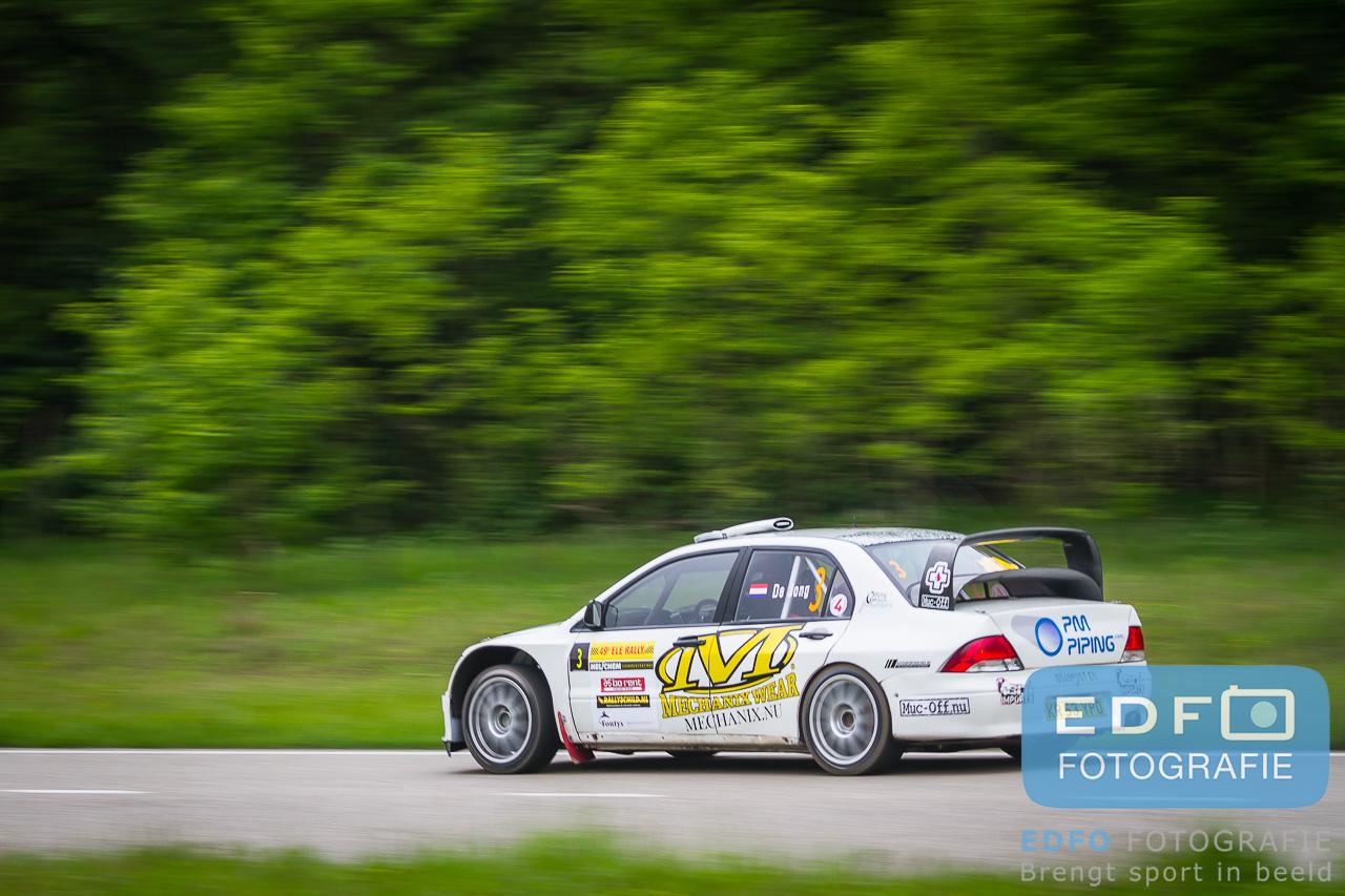 Bob de Jong en Bjorn Degandt winnen de ELE Rally 2013 in een Mitsubishi Lancer WRC